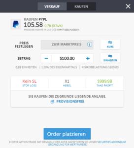 PayPal Aktie beim beliebten Social-Trading-Broker kaufen