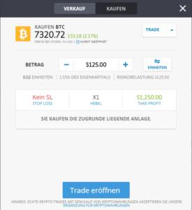 Bitcoin kaufen bei der Krypto-Börse eToro