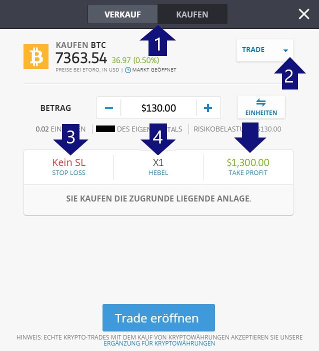 Bitcoins mit PayPal kaufen beim Broker eToro