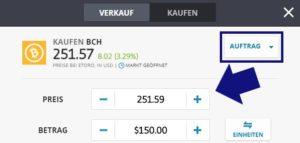 Bitcoin Cash kaufen via PayPal - Auswahl Trade oder Auftrag