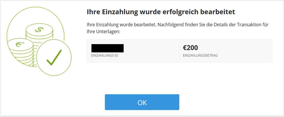 PayPal Einzahlung eToro