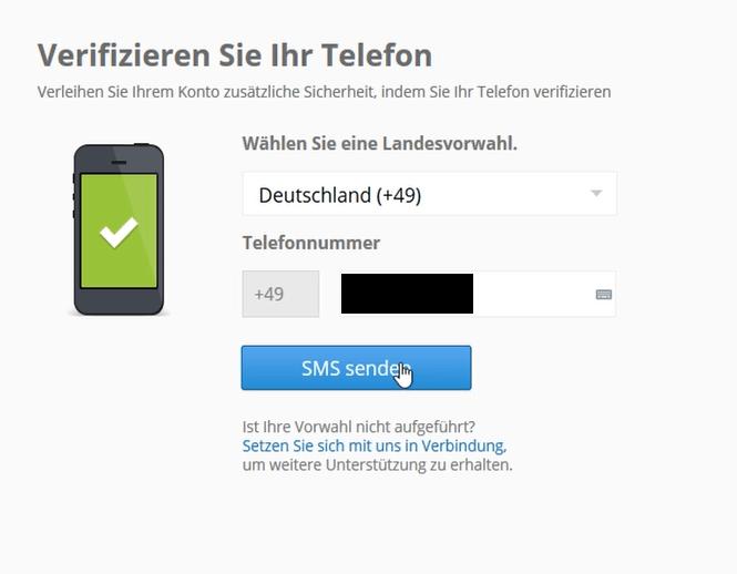 Telefon-Verifizierung eToro